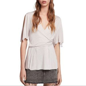 NWT All Saints Amira Top in Stone White